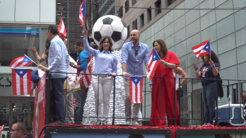 Puerto Rico Day Parade World Cup Float