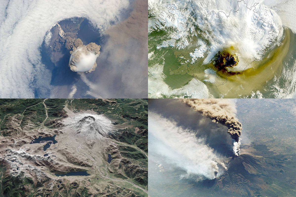 These spectacular volcanoes can be seen from space