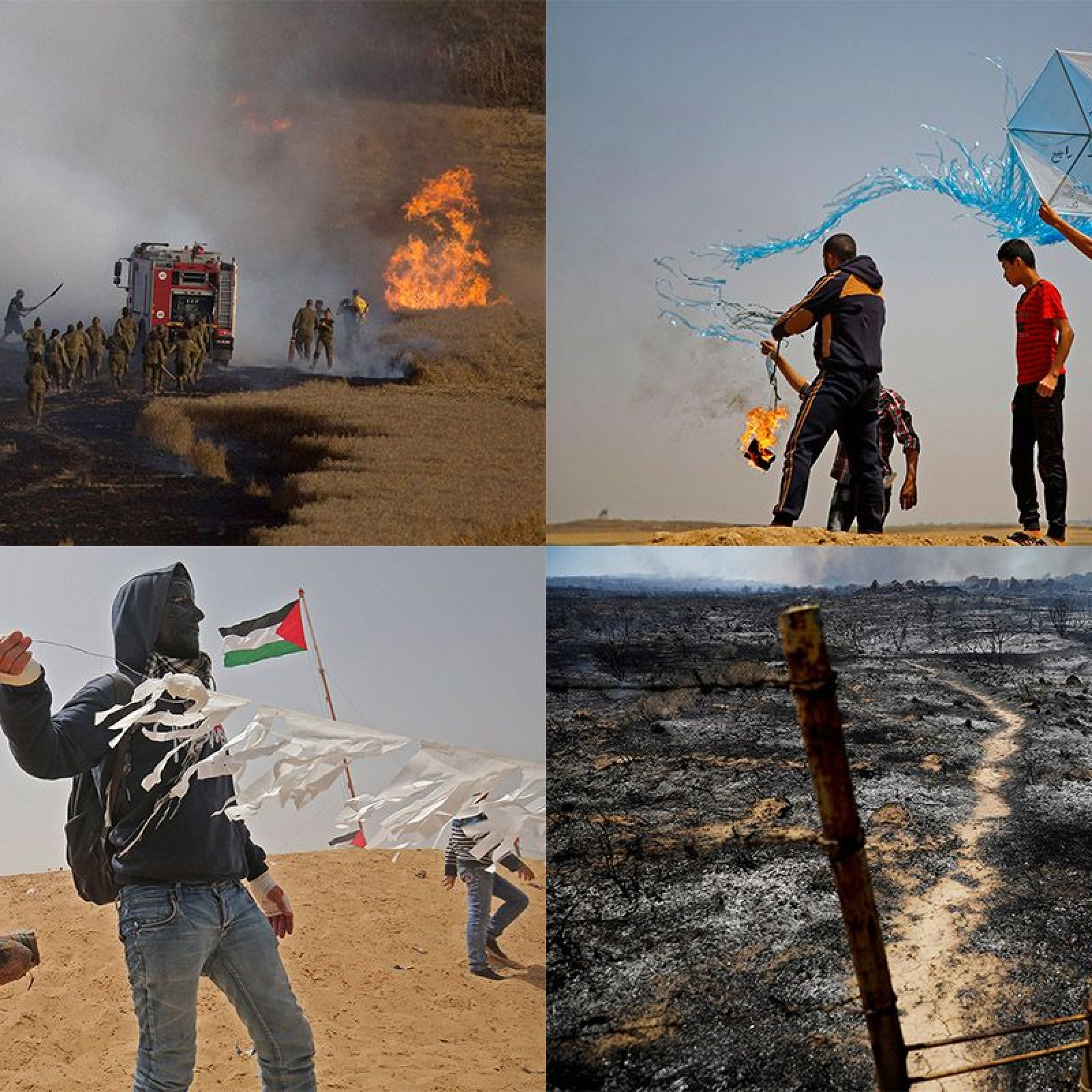 Palestinians Use Burning Kites As Weapons Against Israel on Gaza Border