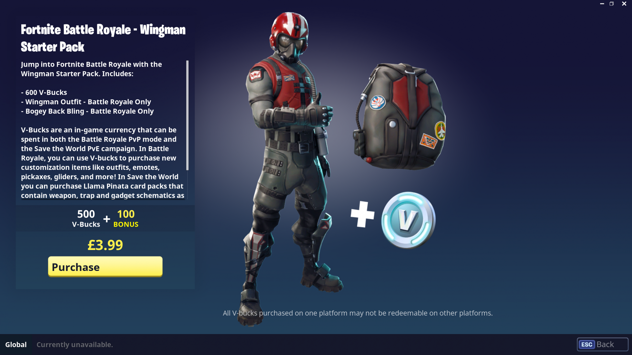 Fortnite' Wingman Starter Pack and PlayStation Plus