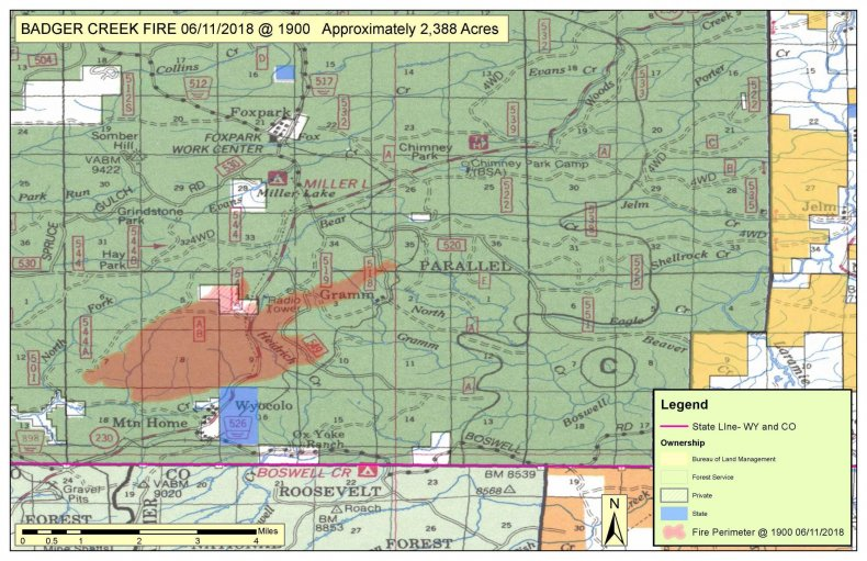 Badger Creek Fire Map Wyoming Badger Creek Fire: Pre Evacuations and Evacuations Ordered