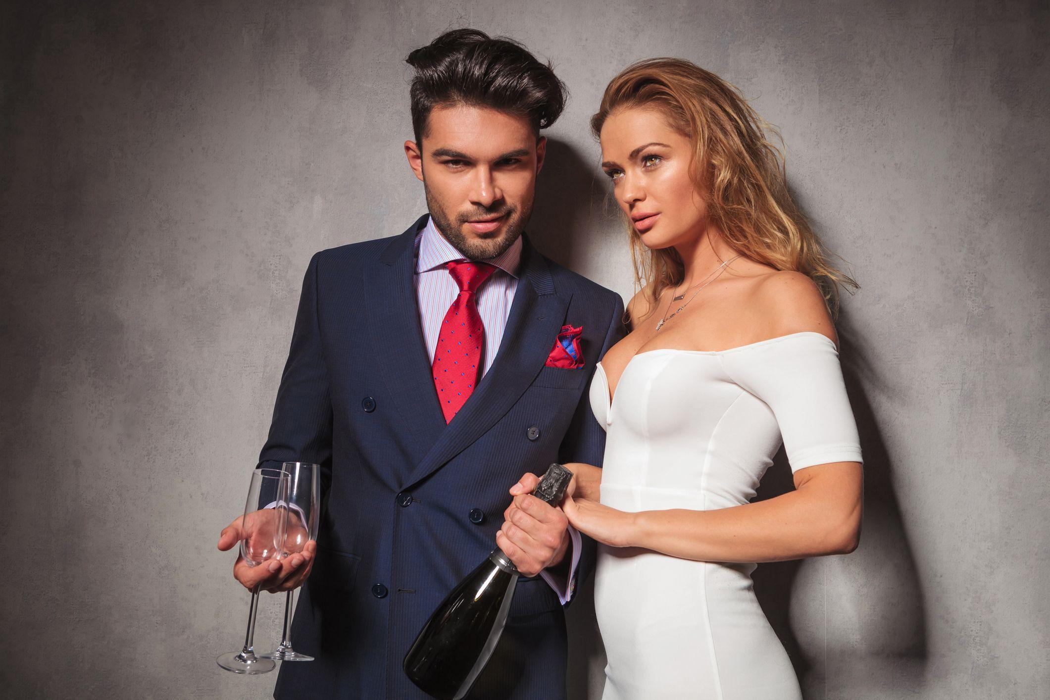 millennials-rich-champagne-stock