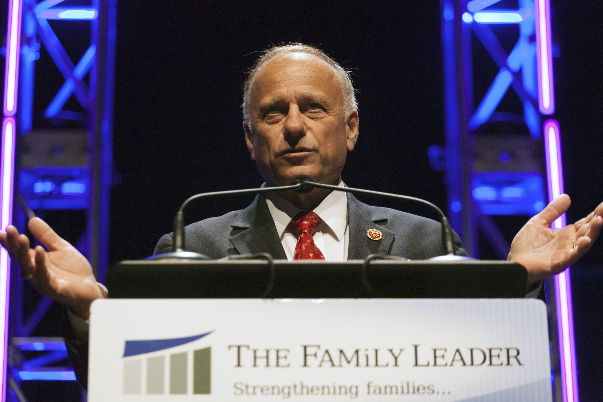 Congressman Steve King speaks at the Family Leadership Summit in Ames, Iowa August 9, 2014.
