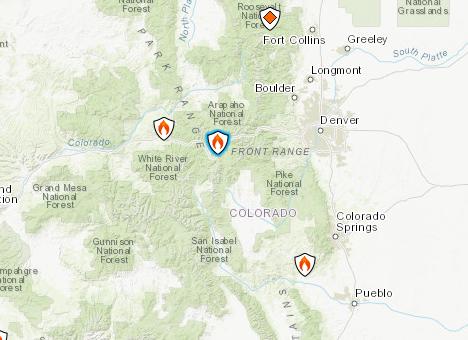 Buffalo Mountain Fire Map