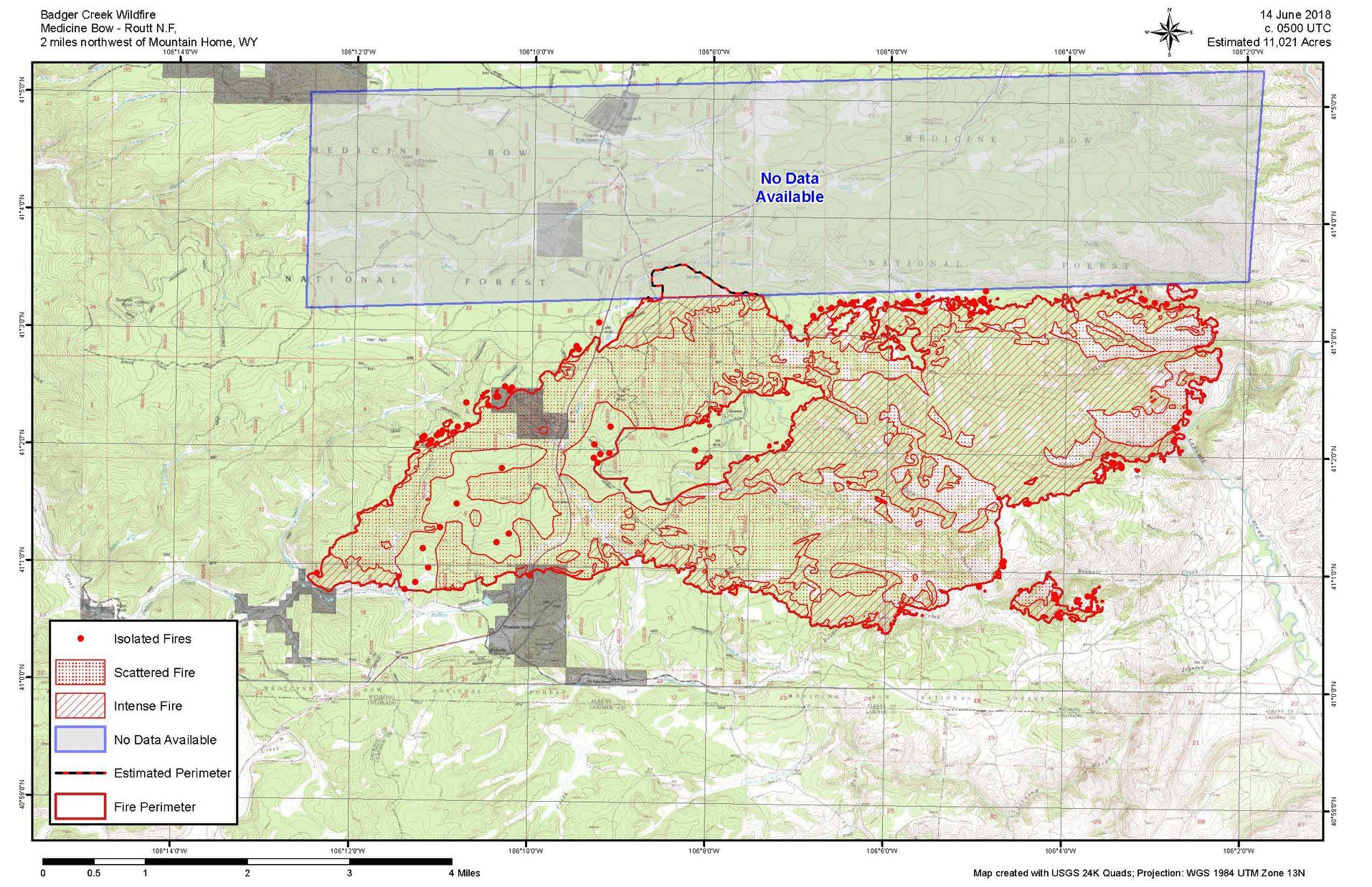 Wyoming Badger Creek Fire Update: Map, Blaze Doubles in Size