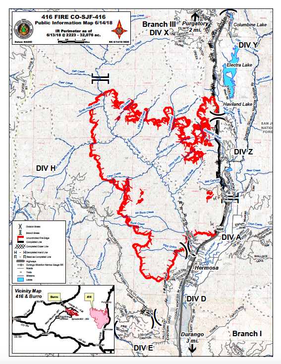 Colorado Fires June 2018 Maps Update On 416 Wildfire And Others
