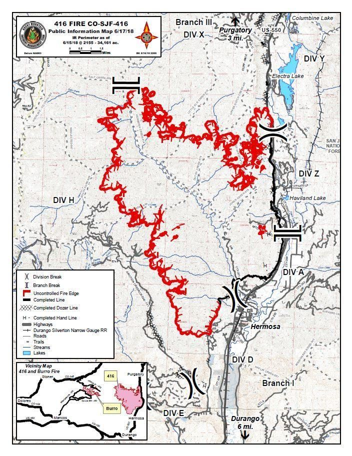 416 Fire Update Durango Colorado Wildfire Reaches More Than