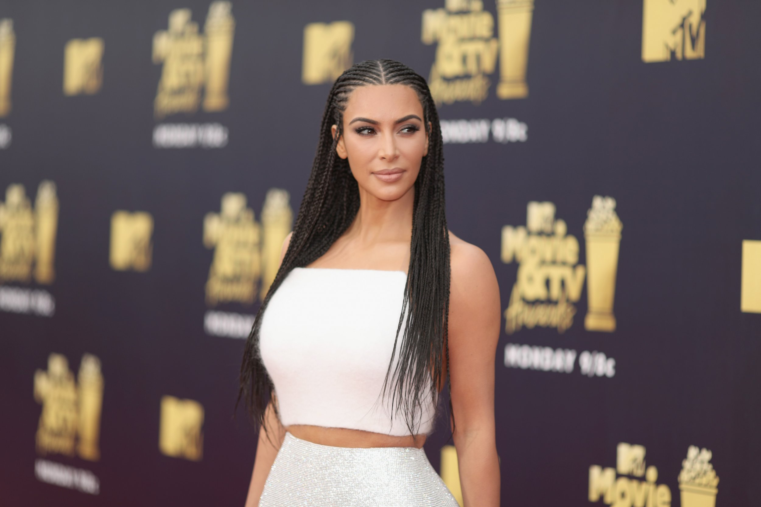 kim kardashian braids