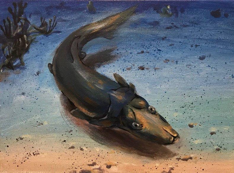 Platypus-fish-Life-reconstruction-courtesy-Jason-Art,-Shenzhen