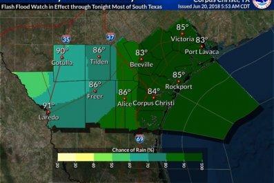texas chance of precip