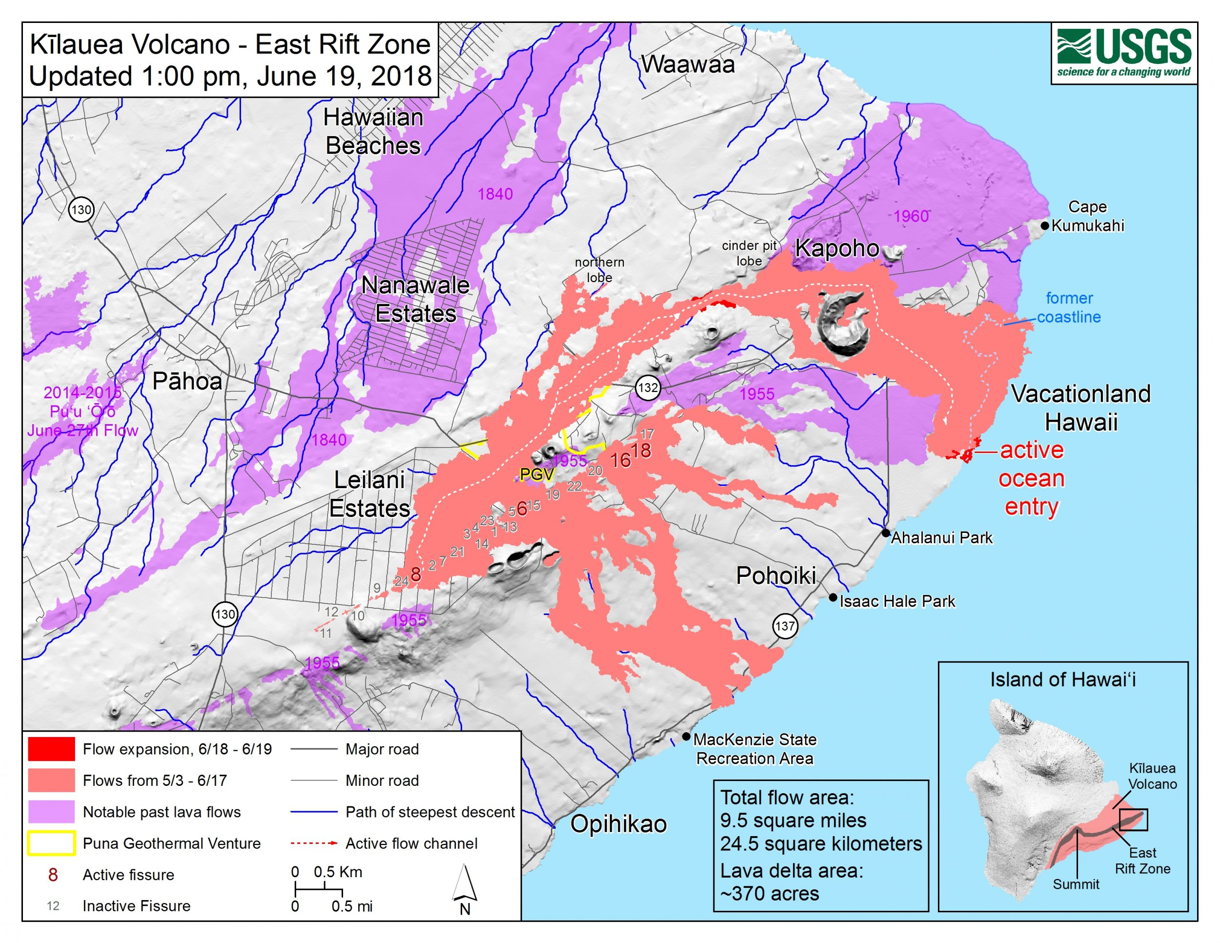 Hawaii Kilauea Volcano Update: USGS Map, New Fissures, Earthquake ...