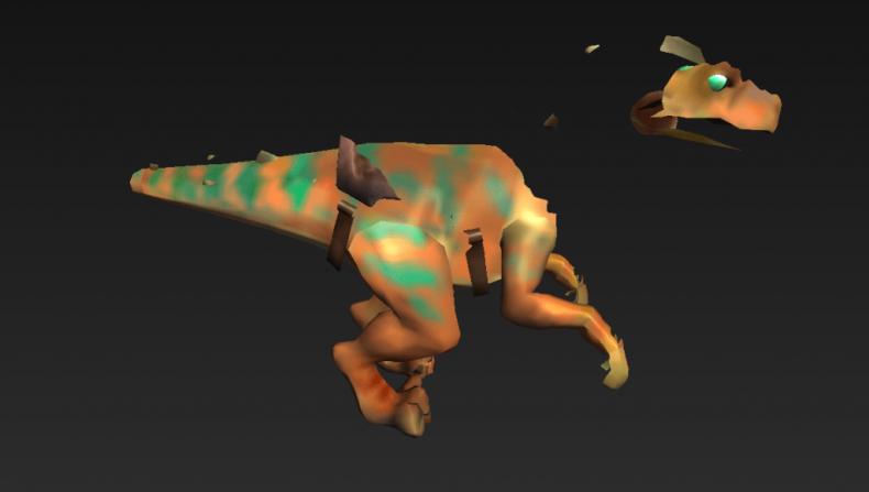 rr orange raptor mount