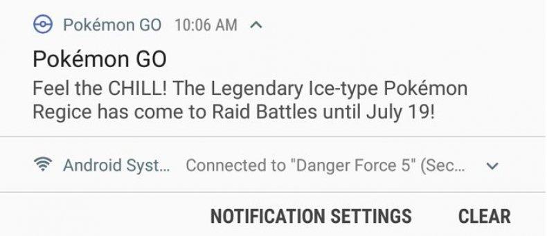 pokemon_go_feel_the_chill regice notification