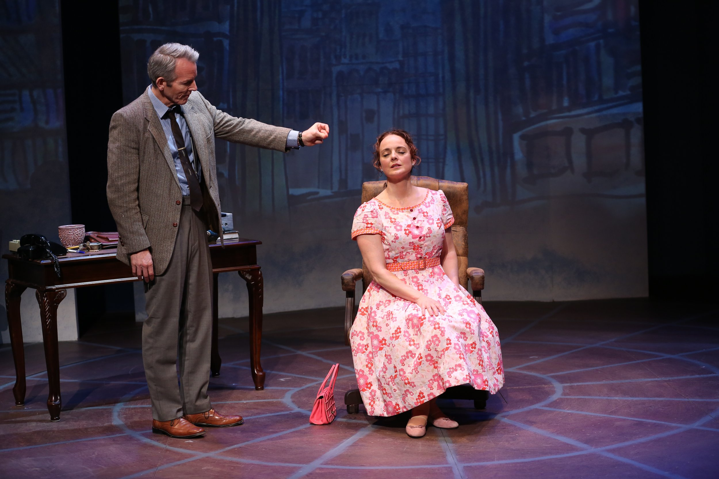 Stephen Bogardus and Melissa Errico in Irish Rep's ON A CLEAR DAY YOU CAN SEE FOREVER - Photo by Carol Rosegg
