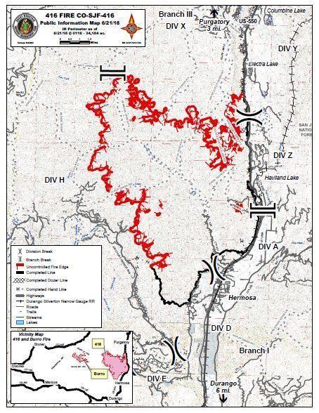Fires Colorado Map.Colorado 416 Fire Map Update Massive Durango Fire 37 Percent Contained