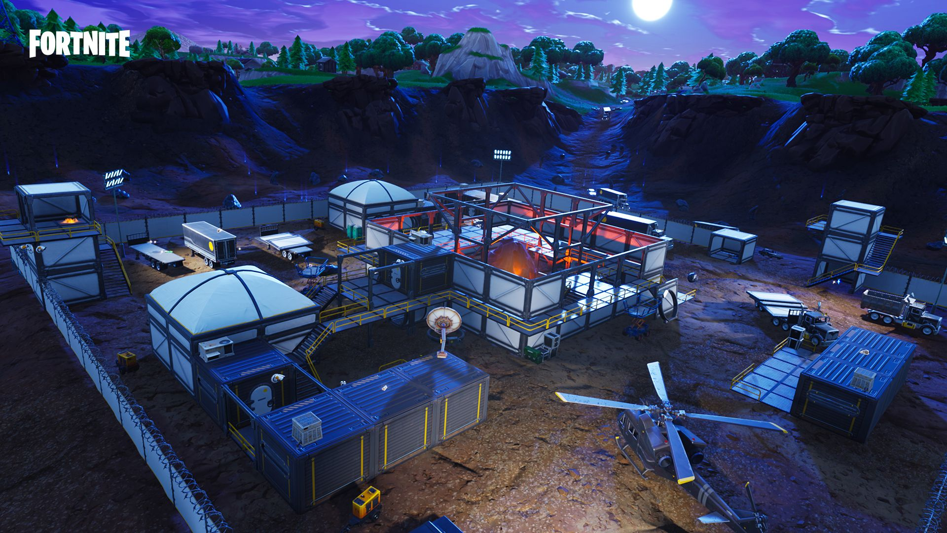 fortnite 4 5 update map leak shows new buildings a missing rocket - fortnite new dusty divot