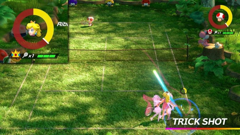mario tennis aces trick shot princess peach