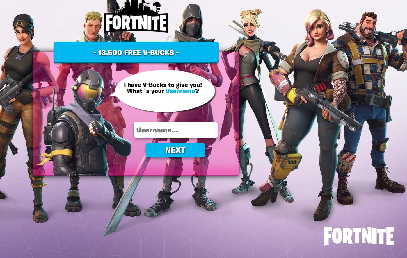 fortnite free v bucks scam how to spot fake websites pushing hacks cheats in game money - fortnite missing v bucks
