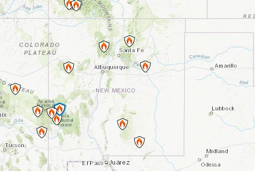 Sardinas Canyon Fire: New Mexico Wildfire Zero Percent Contained