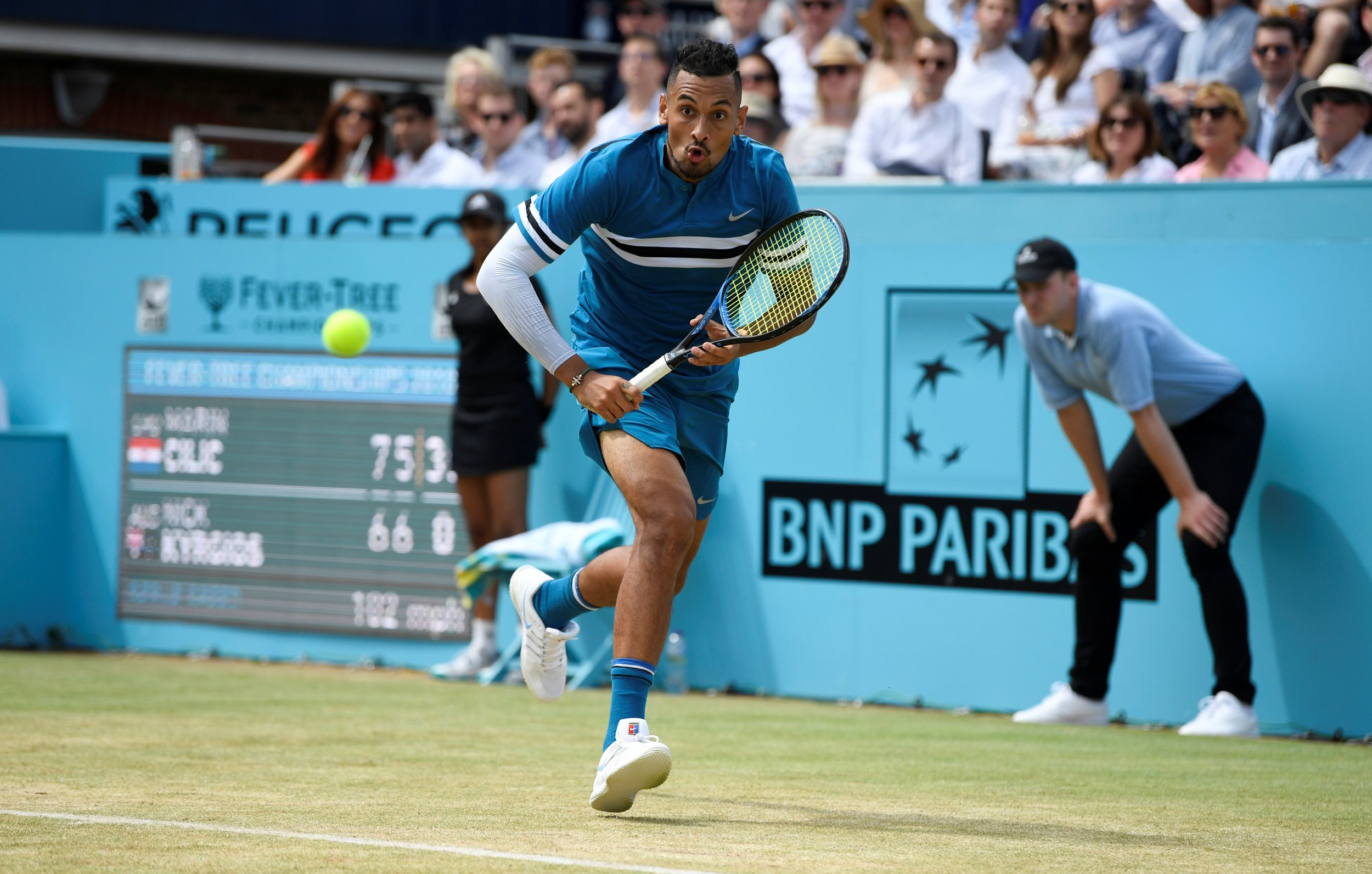 Kyrgios plays the Queen's Club Semifinals