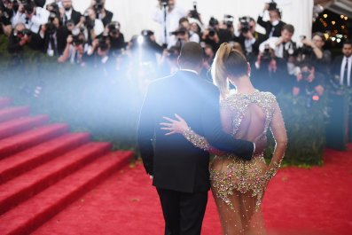 Beyonce and Jay Z at the Met Gala, 2015.