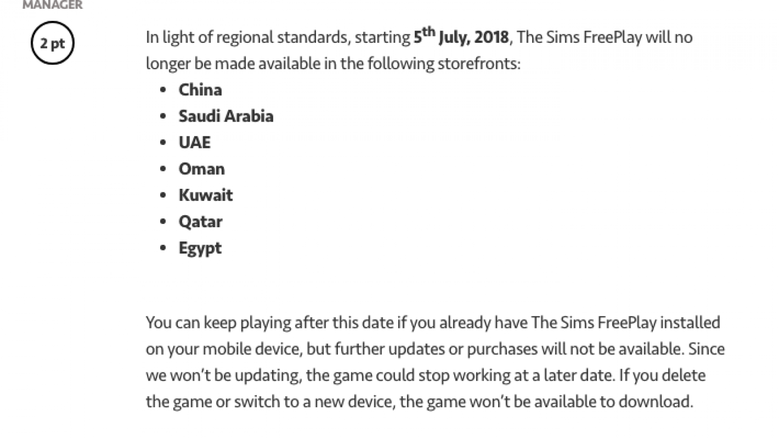 The Sims FreePlay' Banned in China, Saudi Arabia & More Due