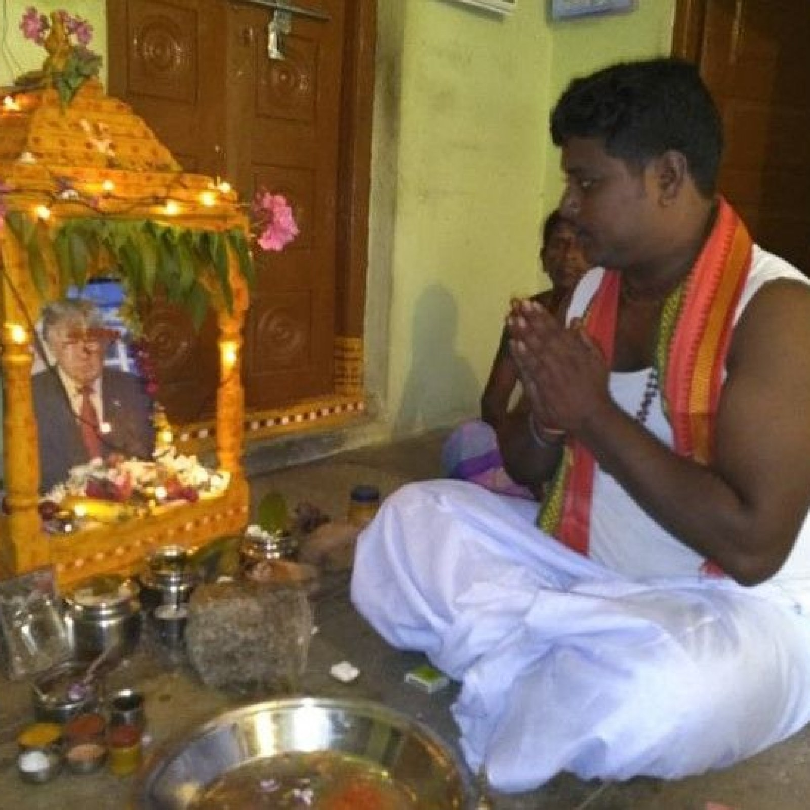 Image result for Man from India worshipping Trump