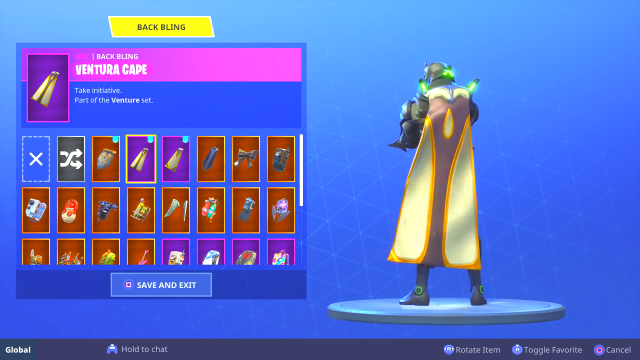 fortnite venturian back bling - fortnite save the world daily quests removed