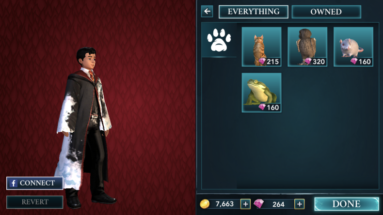 Harry, Potter, hogwarts, mystery, update, pets, how, to, get, frog, cat, owl, rat, dorm, room, energy, points, new, features